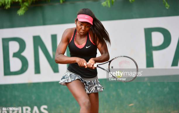 Francoise ABANDA Roland Garros 2014 Photo Dave Winter / Icon Sport