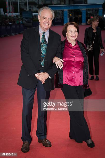"""Francoise Arnoul and Frederic Mitterrand attend the """"In Dubious Battle"""" Premiere during the 42nd Deauville American Film Festival on September 5,..."""
