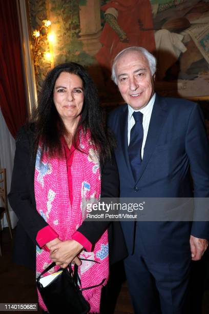 Francoise Bettencourt Meyers and her husband JeanPierre Meyers attend the Fondation Bettencourt Schueller Concert Oblique at Opera Comique on April...
