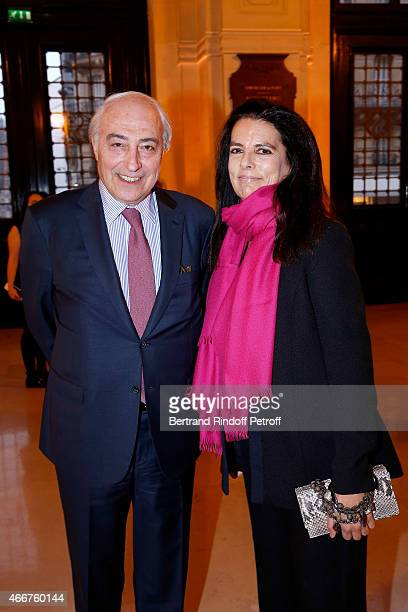 Francoise Bettencourt Meyers and her husband JeanPierre Meyers attend the 'L'OrealUNESCO Awards 2015 for Women in Science at La Sorbonne on March 18...