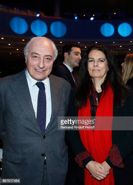 Francoise Bettencourt Meyers and her husband JeanPierre Meyers attend the 2017 L'Oreal UNESCO for Women in Science 19th Awards Ceremony at Maison de...