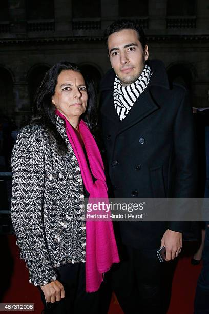 Francoise Bettencourt Meyers and her son JeanVictor Meyers attend 'La Traviata' Opera en Plein Air produced by Benjamin Patou 'Moma Group' Held at...