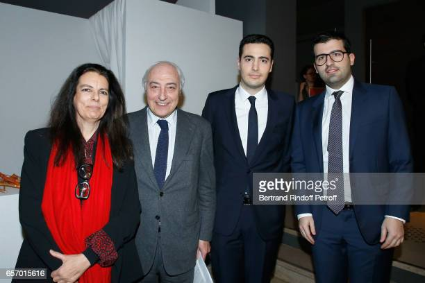 Francoise Bettencourt Meyers her husband JeanPierre Meyers JeanVictor Meyers and Nicolas Meyers attend the 2017 L'Oreal UNESCO for Women in Science...