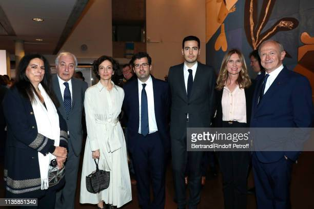 Francoise Bettencourt Meyers her husband JeanPierre Meyers DirectorGeneral of the UNESCO Audrey Azoulay JeanVictor Meyers Nicolas Meyers Sophie Agon...