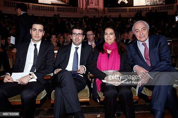 Francoise Bettencourt Meyers her husband JeanPierre Meyers with their sons Nicolas Meyers and JeanVictor Meyers attend the 'L'OrealUNESCO Awards 2015...