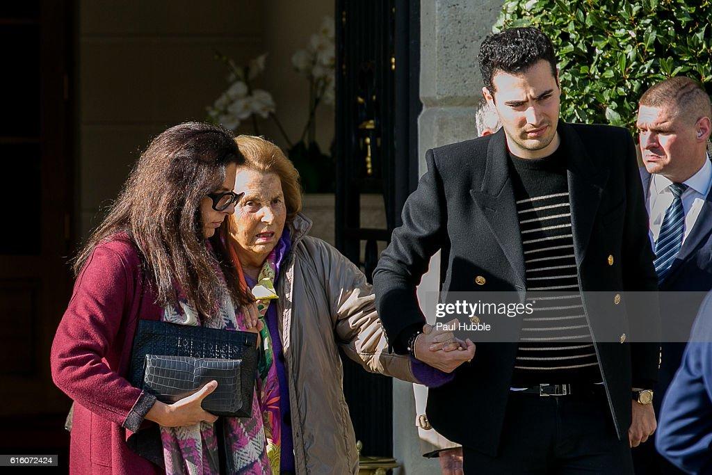 Bettencourt Family Sighting In Paris -  October 21, 2016 : Fotografia de notícias
