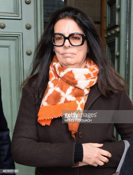 Francoise BettencourtMeyers daughter of France's richest woman Liliane Bettencourt leaves the courthouse of Bordeaux southwestern France on February...