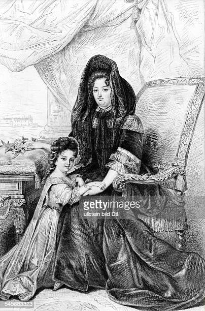 Francoise d' Aubigne Marquise deMaintenonMätresse und nach dem Tod der KöniginMaria Theresia heimlich angetrauteGattin Ludwig XIVund Anne Marie de...