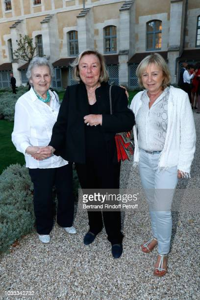 Francoise Daix Maryvonne Pinault and Florence Rogers Pinault attend the Kering Heritage Days Opening Night at 40 Rue de Sevres on September 14 2018...
