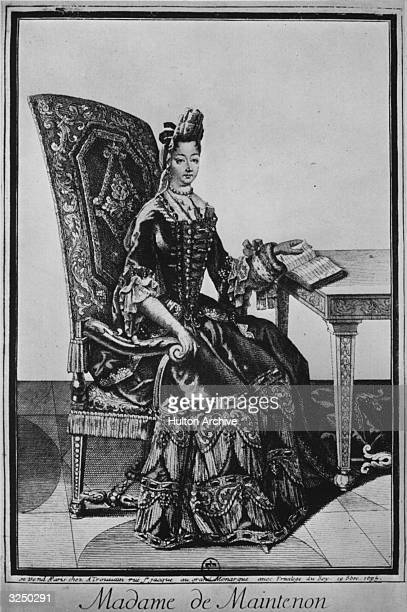 Francoise d'Aubigne also known as Marquise de Maintenon second wife of King Louis XIV Original Publication From an engraving published 1895
