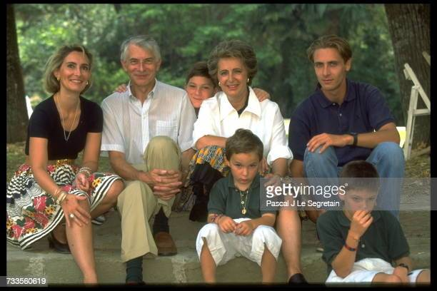 Francoise De Veyrinas With Her Family In Aude