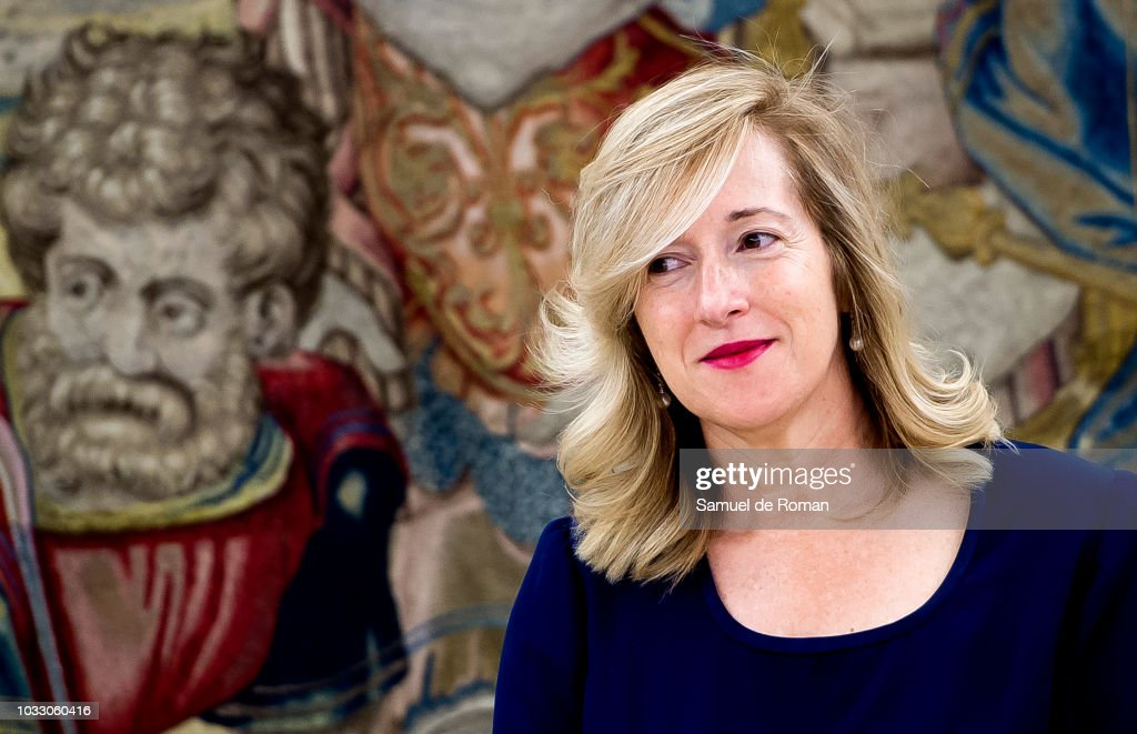 Francoise Derolez during the audiences at Zarzuela Palace on September 14, 2018 in Madrid, Spain.