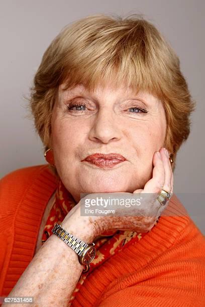 Francoise Dorin on the set of TV show 'Les Grands du Rire'