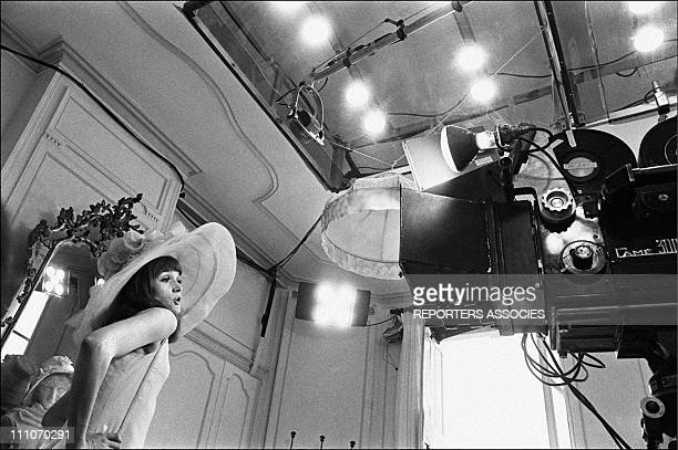 Francoise Dorleac in shooting film ' Les Demoiselles de Rochefort' in Rochefort France on June 09 1966