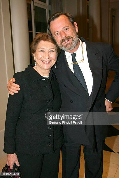 Francoise Dumas and Louis Benech at Stephen Schwarzman Hosts Inaugural Dinner At Trianon Palace In Versailles.