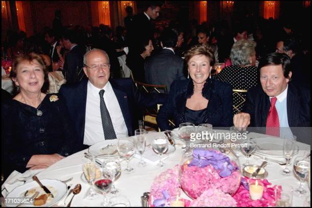 Francoise Dumas Marc Ladreit De Lacharriere Marie Louise of Clermont Tonnerre and Count Gerald De Roquemaurel Premiere of the movie Le Deuxieme...