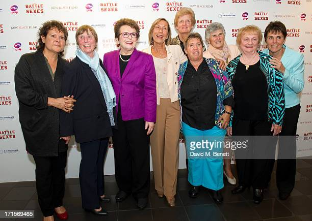 Francoise Durr Billie Jean King Ingrid LofdahlBentzer Betty Stove Judy Dalton and Ilana Kloss attend the Battle of The Sexes UK premiere inside...
