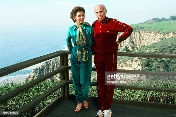 Francoise Gilot and Dr Jonas Salk at home circa 1982 in La Jolla California