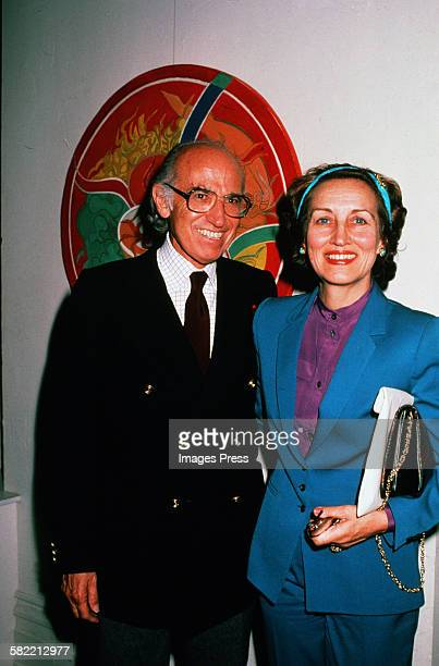 Francoise Gilot and husband Dr Jonas Salk circa 1980 in La Jolla California