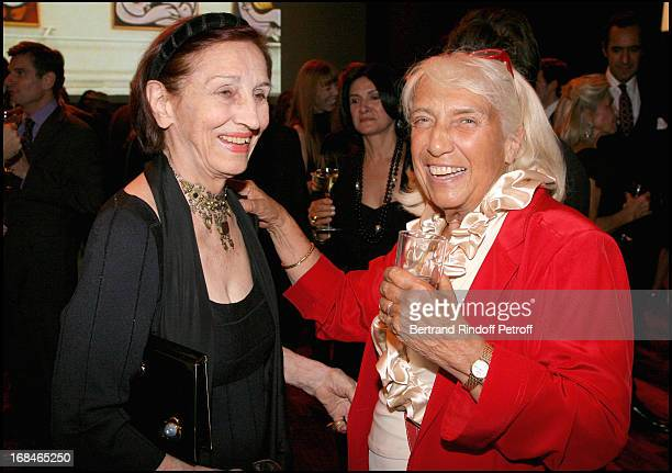 Francoise Gilot and Maya Widmaier Picasso at Private Viewing Of The Exhibition 'Picasso Et Les Maitres' At Grand Palais In paris