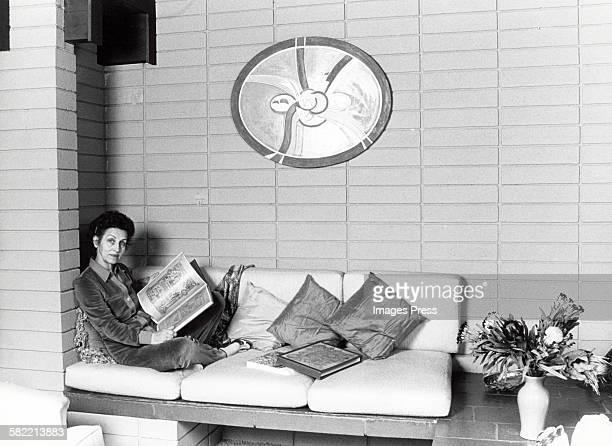 Francoise Gilot at home circa 1982 in La Jolla California