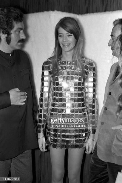 Francoise Hardy and Salvador Dali in Paco Rabanne In France On May 19, 1968.