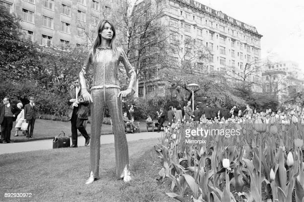 Francoise Hardy french singer is staying at the Savoy Hotel London pictured during photocall in the Embankment Gardens Tuesday 23rd April 1968