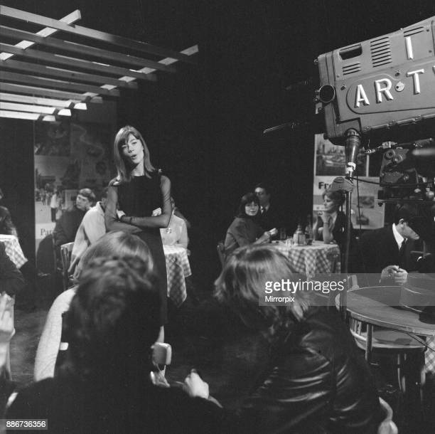 Francoise Hardy, french singer, makes a guest appearance on ITV music show They've Sold A Million, an Associated Rediffusion produced TV Show,...