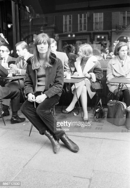 Francoise Hardy french singer pictured in Mayfair London 11th March 1965 Francoise Hardy is in the UK for a recording session and to make a guest...