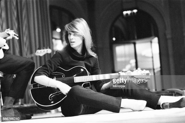 Francoise Hardy french singer pictured rehearsing her cabaret show which opens at The Savoy this week London 20th February 1967