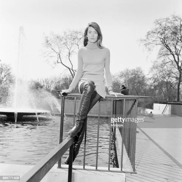 Francoise Hardy french singer relaxes in the spring sunshine Hyde Park London Sunday 14th April 1968