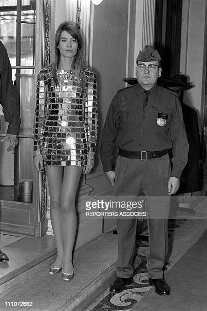 Francoise Hardy in Paco Rabanne In France On May 19, 1968.