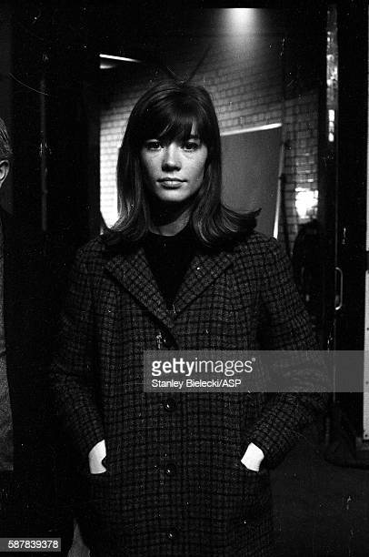 Francoise Hardy on set of TV show Ready Steady Go Kingsway Studios London February 1964