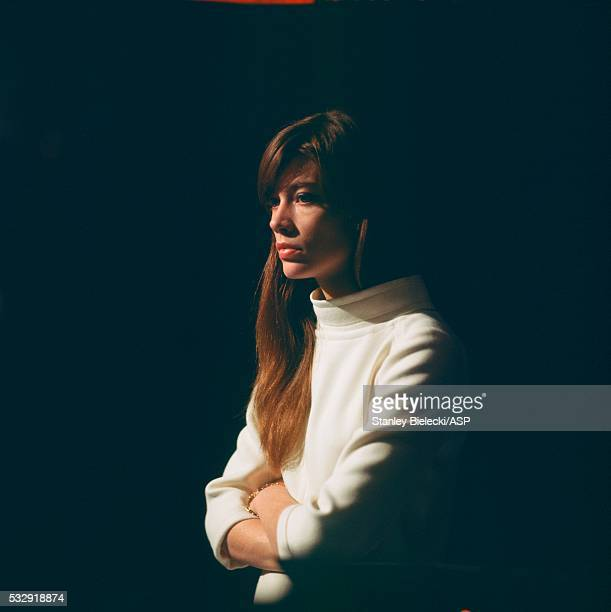 Francoise Hardy portrait, London, circa 1965.