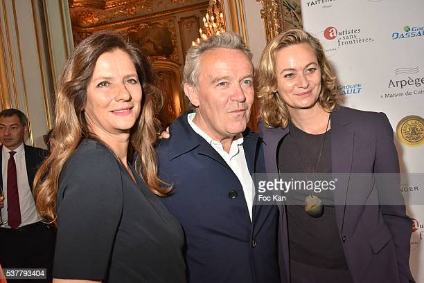 Francoise joly Chef Alain Passard and Guilaine Chenu attend 'Autistes Sans Frontieres' Gala Dinner Arrivals at Hotel Marcel Dassault on June 2 2016...