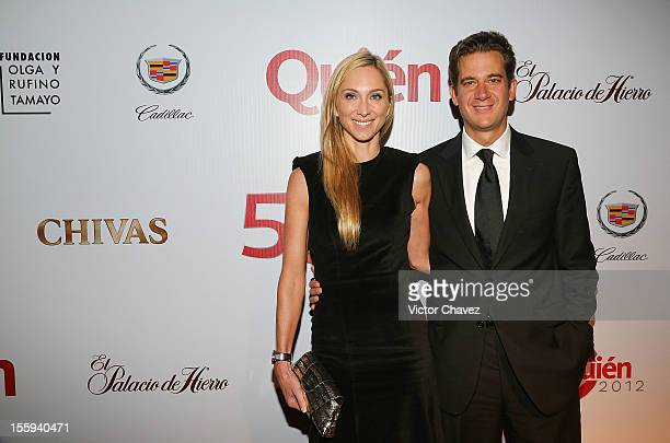 Francoise Lavertu and Dennis Stevens attend Quien magazine 12th aniversary gala night on November 8 2012 in Mexico City Mexico