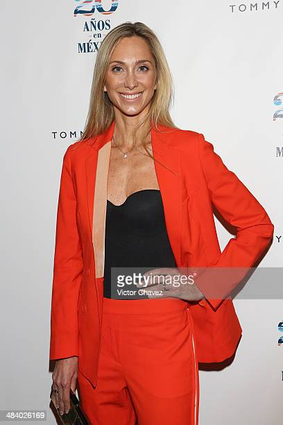 Francoise Lavertu attends the Tommy Hilfiger in México 20th anniversary at ExConvento de San Hipolito on April 10 2014 in Mexico City Mexico