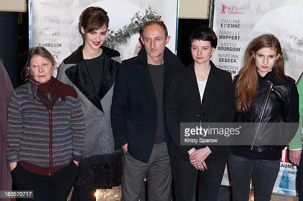 Francoise Lebrun Louise Bourgoin Guillaume Nicloux Pauline Etienne and Agathe Bonitzer attend the 'La Religieuse' Paris Premiere at the UGC Cine Cite...