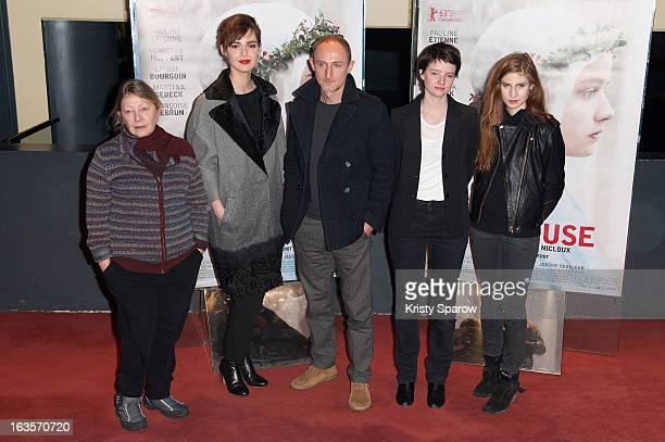 Francoise Lebrun Louise BourgoinGuillaume Nicloux Pauline Etienne and Agathe Bonitzer attend the 'La Religieuse' Paris Premiere at the UGC Cine Cite...