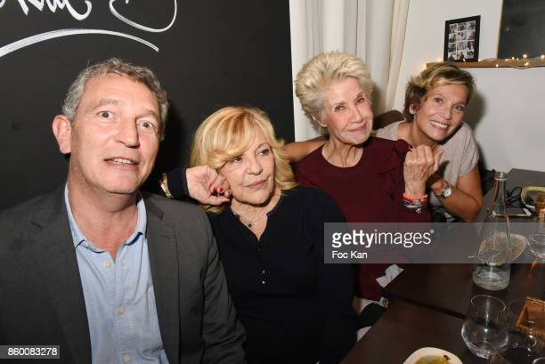 Francoise Lefaure Daniele Gilbert Nicoletta and Olivier Michel attend Olivier Michel Private Dinner Party at Sens Uniques Restaurant on October 10...
