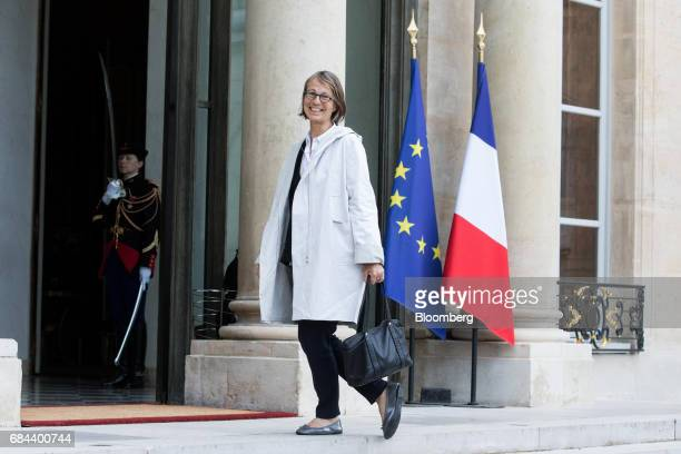 Francoise Nyssen France's minister for culture arrives for a cabinet meeting at the Elysee Palace in Paris France on Thursday May 18 2017 President...