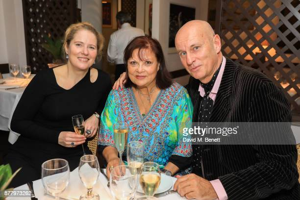 Francoise Pascal and Guests attend a private view of Koo Stark's exhibition 'Kintsugi Portraits' at Galleria San Lorenzo on November 23 2017 in...