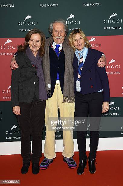 Francoise Rochefort Jean Rochefort and Virginie CouperieEiffel attend the Gucci Paris Masters 2014 at Paris Nord Villepinte on December 6 2014 in...