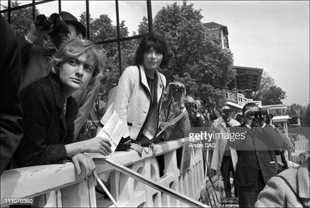 Francoise Sagan Juliette Greco at the horse race in France in May 1965