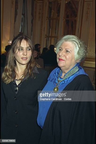 Francoise Seigner and her niece Mathilde