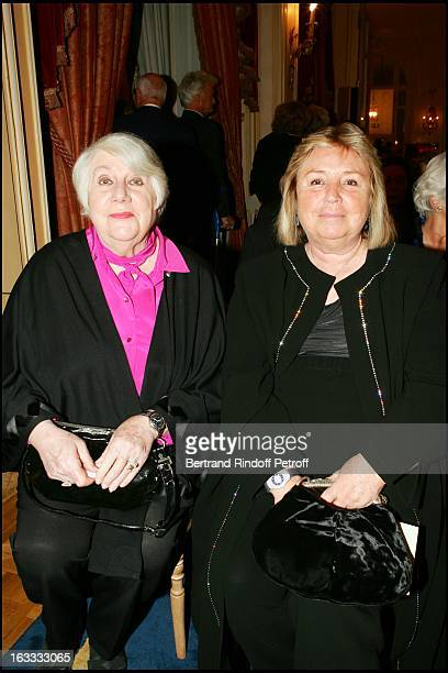 Francoise Seigner and Madame Francois Pinault at The Private Concert By Berlin Philharmonic Orchestra At The Ritz In Paris