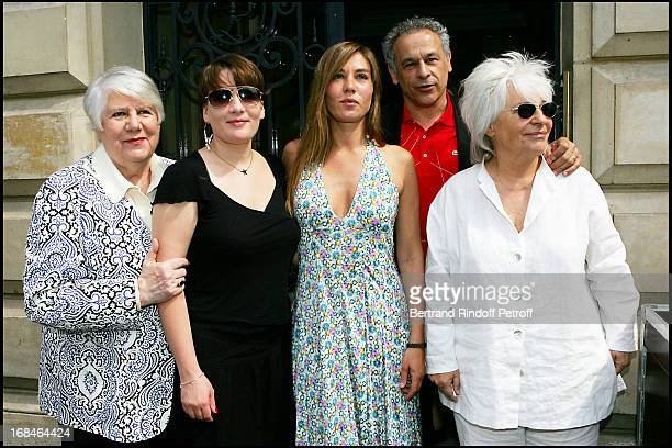 Francoise Seigner Marie Amelie Seigner Mathilde Seigner Francis Perrin and Catherine Lara at Commemorative Plaque Tribute To Louis Seigner