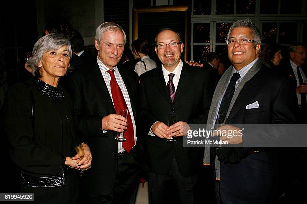 Francoise Simon Bob Simon guest and Hank Vigil attend DONNA KARAN and THE URBAN ZEN FOUNDATION host a dinner for THE MERCY CORPS at Stephan Weiss...
