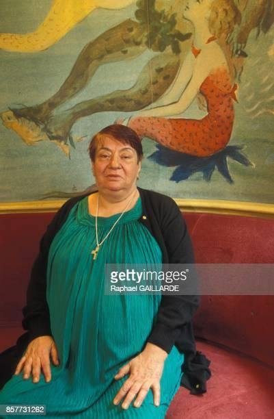 Francoise Verny directrice litteraire de la maison d'edition Flammarion le 9 fevrier 1994 a Paris France