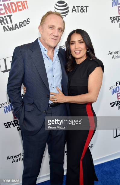 Francois-Henri Pinault and actor Salma Hayek attend the 2018 Film Independent Spirit Awards on March 3, 2018 in Santa Monica, California.